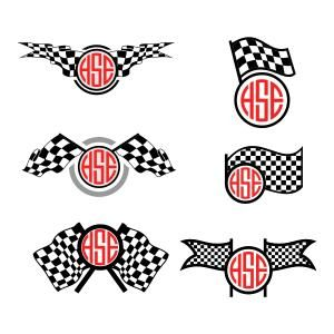 Race Checkered Flag Svg Cuttable Frames