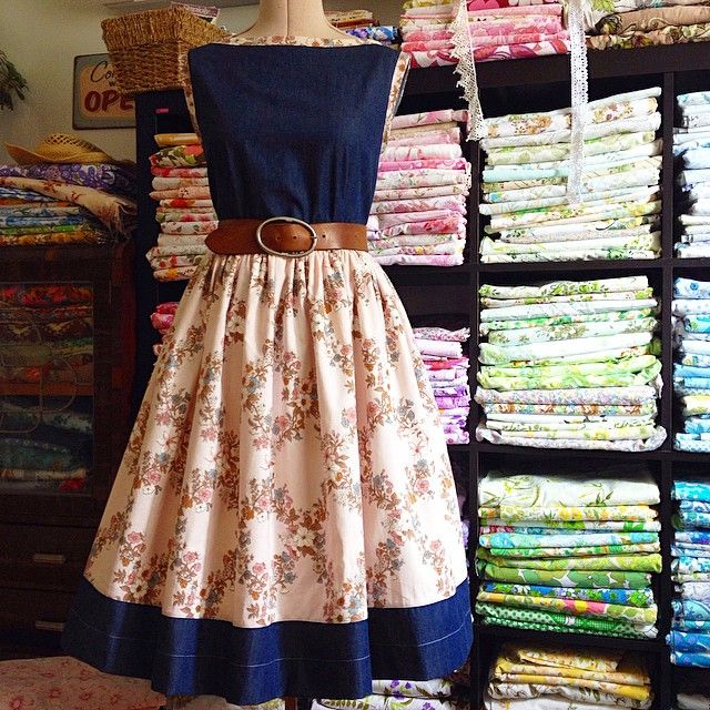 Hooray for Tuesday! This freshly finished custom Frankie dress is off to Tanya. There are hints of dusty blue through the pink floral fabric so it ties perfectly with the denim. So crisp and smart. I hope you're all having a wonderful day! x { Gertrude Made } #countrystyle #denim #handmadedress #countrygirl #instadress #vintagefabric #classy #imadethis #vintageinspired #vintagestyle #sewing www.gertrudemade.com
