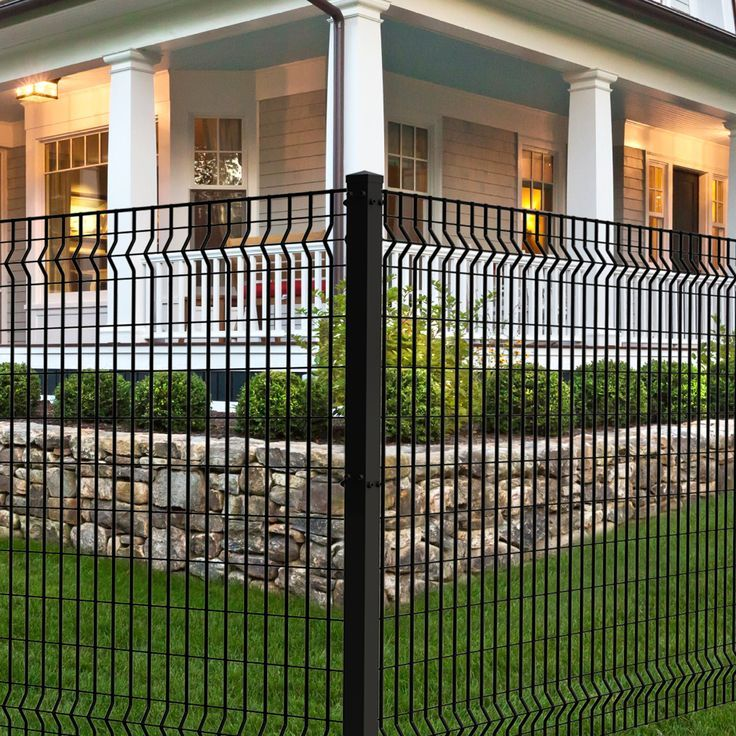 Deco Grid Black Steel Fence Panel Steel Fence Panels