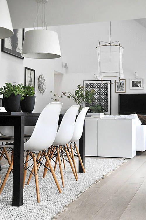 Nowoczesne mieszkanie w stylu skandynawskim - jadalnia