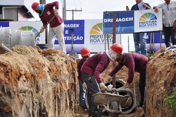 Prefeitura de Boa Vista executa obras de drenagem em vala no bairro Buritis #pmbv #prefeituraboavista #boavisata #roraima #obras