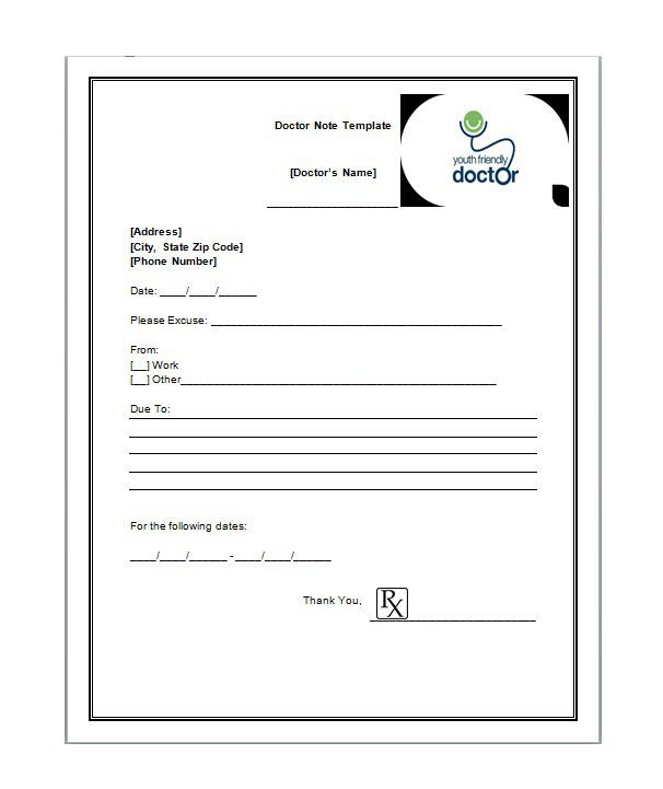 21 Free Doctor Note / Excuse Templates - Template Lab
