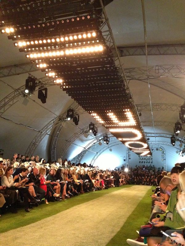 Inside the Topshop show space at London Fashion Week