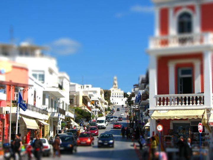 Tinos, Greece - my experiments with tiltshifting
