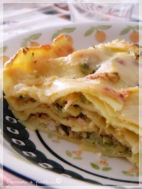 pensieri e pasticci: Lasagne al salmone e zucchine