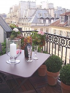 """Paris balcony - I've visited Paris but have often thought what fun to rent a flat for a month and pretend to """"live"""" there!  I can imagine myself there..."""