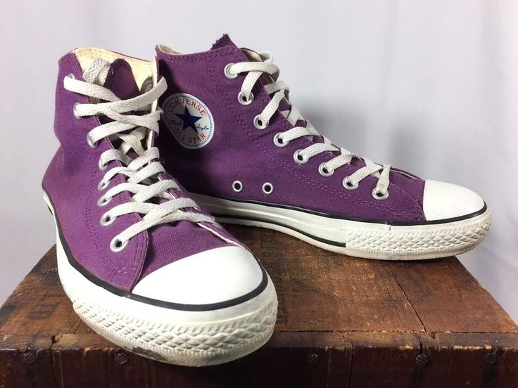 Converse All Star Chuck Taylor Purple Canvas Tennis Shoes Men 7 Women 9 #ConverseChuckTaylor #Athletic