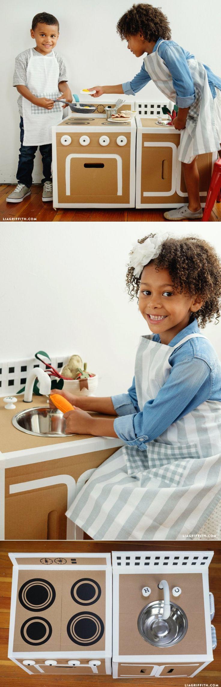 #Playkitchen #DIYToys #KidsToys www.LiaGriffith.com: