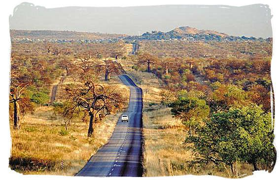 South Africa, Provincial road to Musina (previously Messina) on the border with Zimbabwe