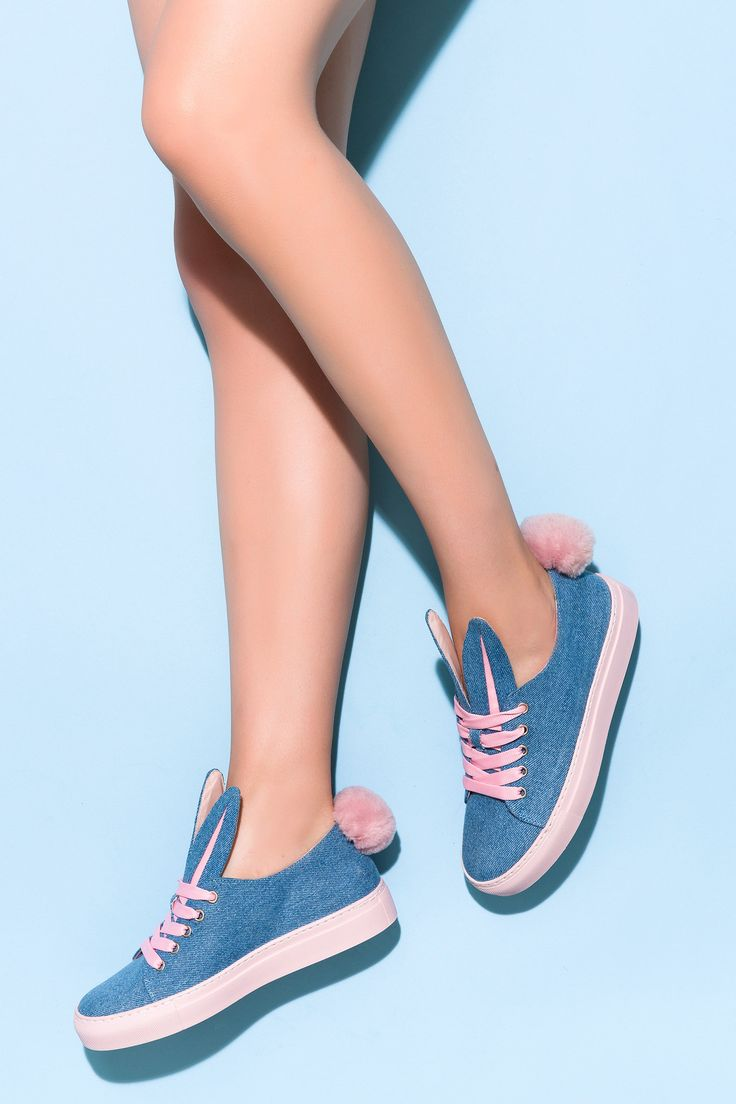 Minna Parikka Tail Sneaks denim-powder