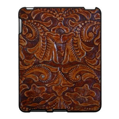 Antique Tooled Leather Photograph iPad case from Zazzle.com
