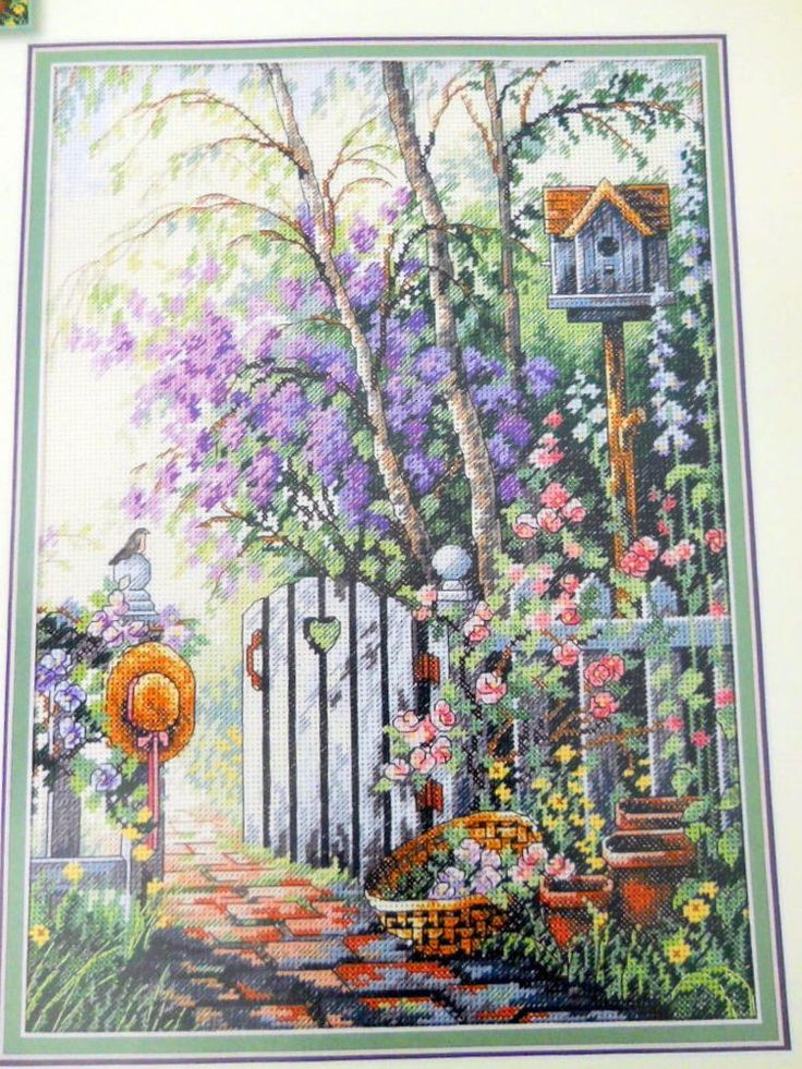 Dimensions Sweethearts Gate Cross Stitch Kit NO AIDA Sandy ...