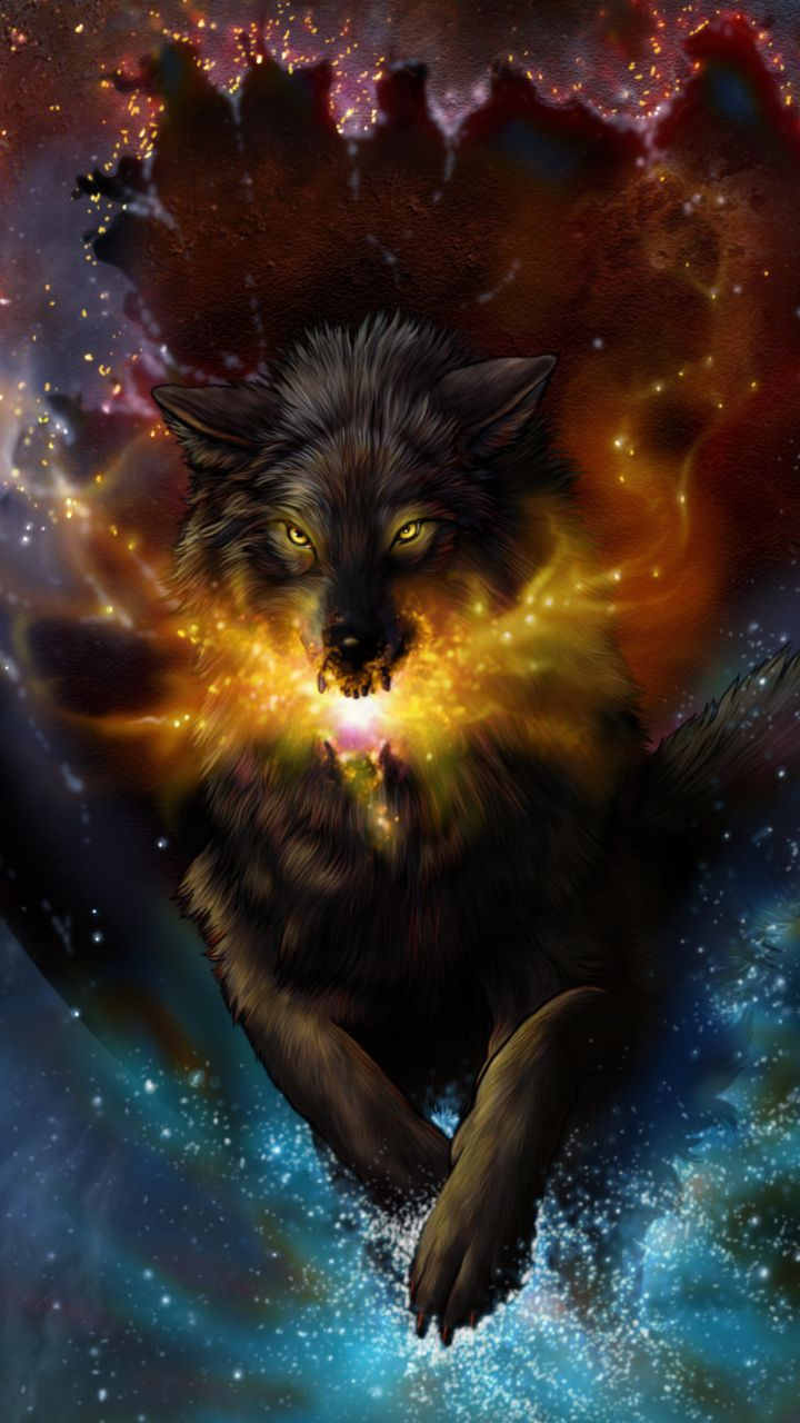 Download This Wallpaper Fantasy Wolf 720x1280 For All
