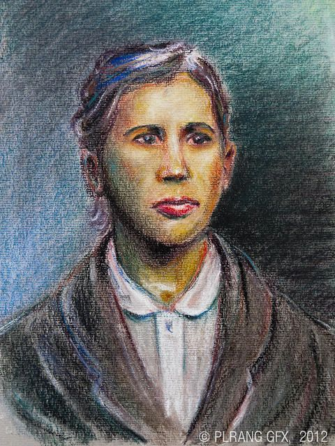 Soft pastels portrait #painting - A woman