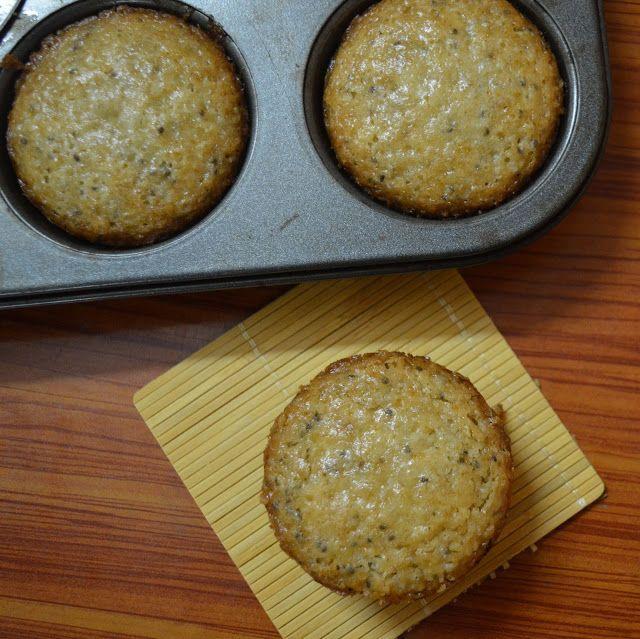 Babi 's Recipes: Lemon Cupcakes with Chia Seeds   Lemon Cupcakes   Eggless cupcakes