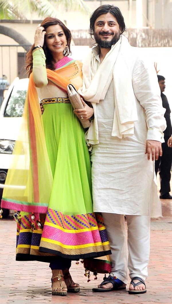 I Love her bright anarkali suit!