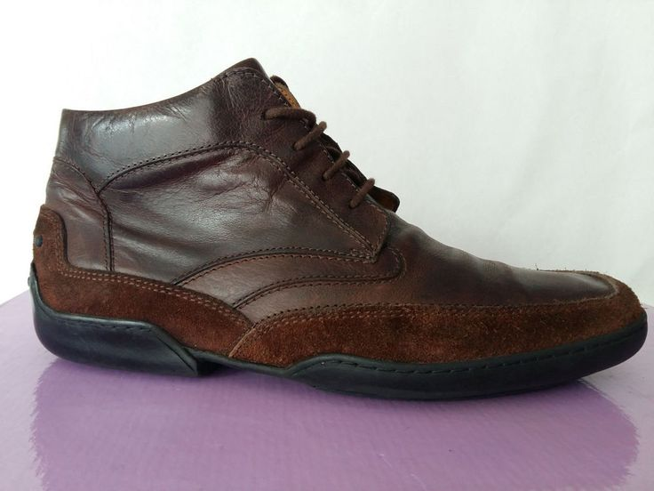Van Bommel Suede Leather Mens Ankle Boots Chelsea Size US 7 EU 40 Brown Shoes #VanBommel #AnkleBoots