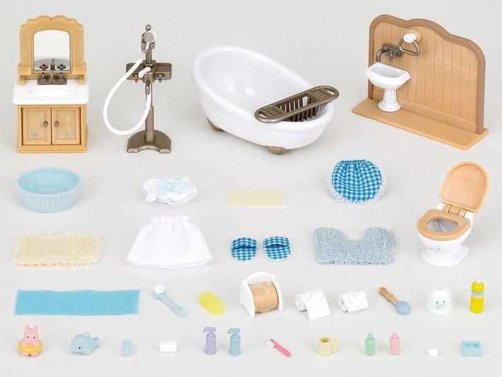 Country Bathroom Set 3 Sylvanian Families Mini Craft Country Bathroom