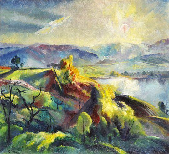 SZŐNYI ISTVÁN (1894-1960) Landscape at dawn, 1923