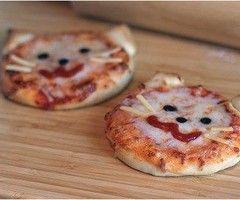 kitty-kat pizza's CUTE!!