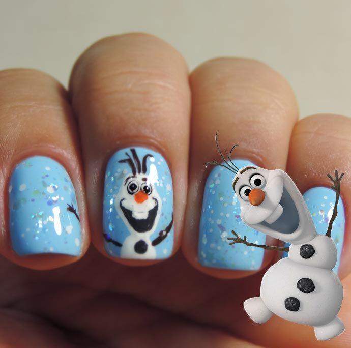 Tutorial Nail Art de Frozen por Melissa Menezes
