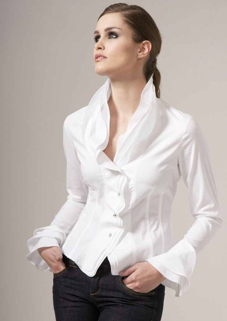 343 best Sexy blouses... images on Pinterest | White blouses ...