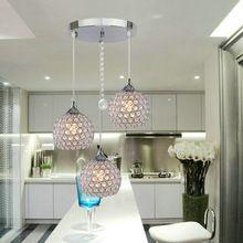 Envío Gratis 3 Luces Bola de Cristal Moderno Colgante de Luz Fixture Empotrado de Techo Araña(China (Mainland))