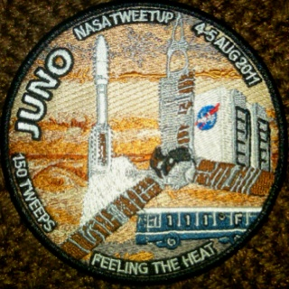 NASA Tweetup patch for Juno Mission launch August 2011 - I was one of 150 attendees for the two-day event.: Twoday Events