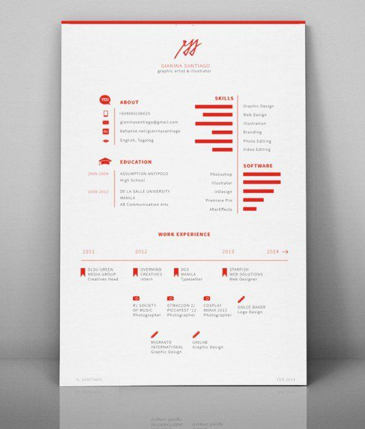 260 best Resume images on Pinterest Design resume, Resume - simple graphic design resume