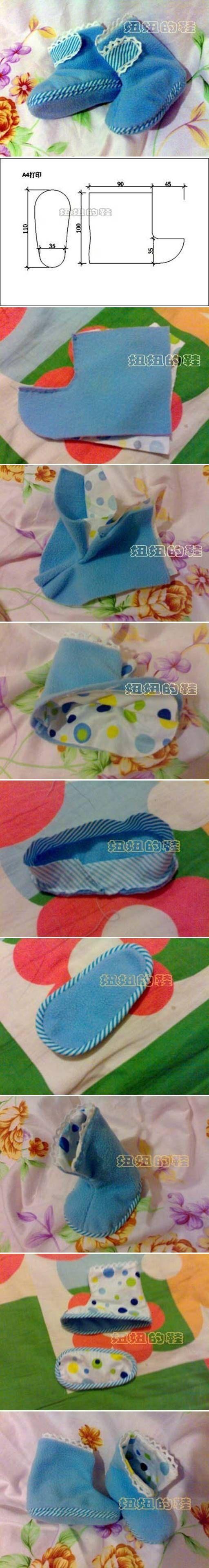 DIY Baby Boot DIY Projects | UsefulDIY.com Follow Us on Facebook ==> http://www.facebook.com/UsefulDiy