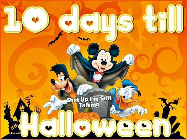 10 days till Halloween | Mickey Mouse and friends | Pinterest
