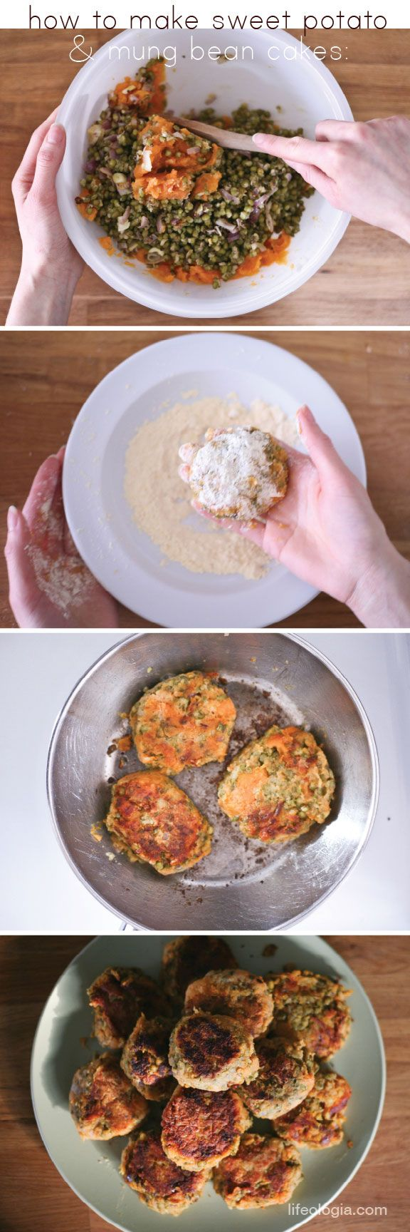 Pure Ella : sweet potato mung bean cakes : #glutenfree  #vegan