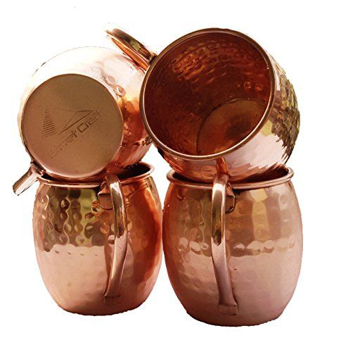 STREET CRAFT Moscow Mule Mug - 100% Pure Solid Copper Mugs, 16 Oz Unlined, No Nickel Interior, Handcrafted Hammered Copper Mugs Set of-4 STREET CRAFT http://www.amazon.com/dp/B018AX08I2/ref=cm_sw_r_pi_dp_uq-Xwb1SJS2Y6