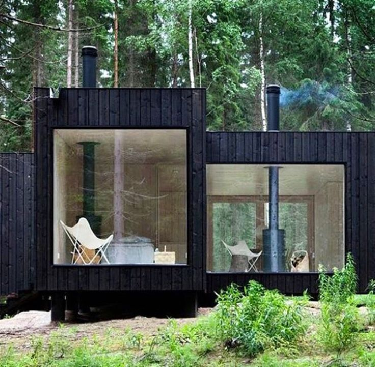 Four cornered cabbin/house by Finnish architect Ville Hara from Avanto Architects. Virrat, Finland