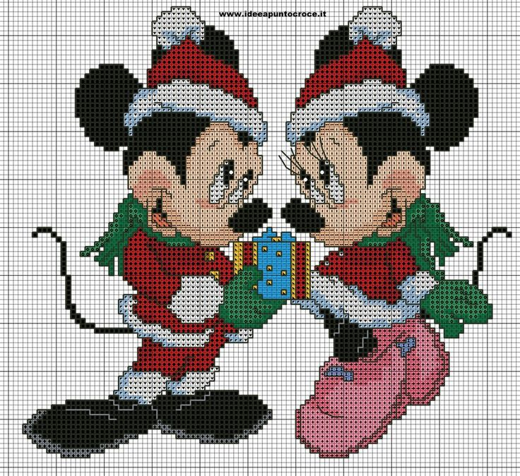 minnie e topolino natalizi punto croce by syra1974 on DeviantArt