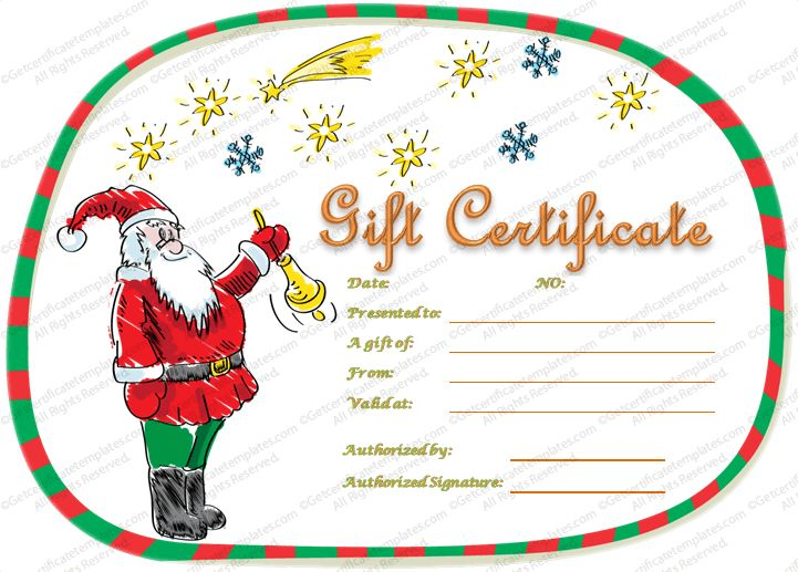 17 Best images about Beautiful Printable Gift Certificate – Santa Gift Certificate Template