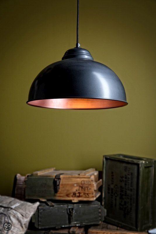 bol.com | EGLO Vintage - Hanglamp - 1 Lichts - Zwart, Koper | Wonen