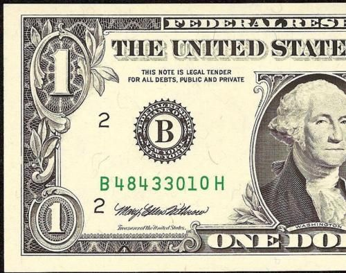 #coins #collectibles UNC 1995 $1 EXPERIMENTAL WEB FED PRESS NOTE ABSENT CHECK LETTER FRN PAPER MONEY #coins #collectibles