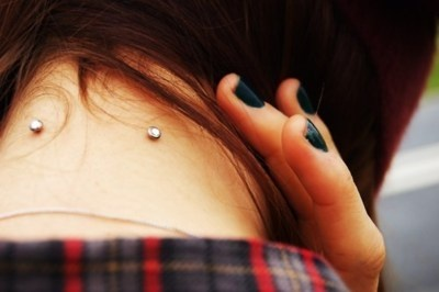 Two Microdermals on neck. If I ever get Microdermals it'll probably be these right here.