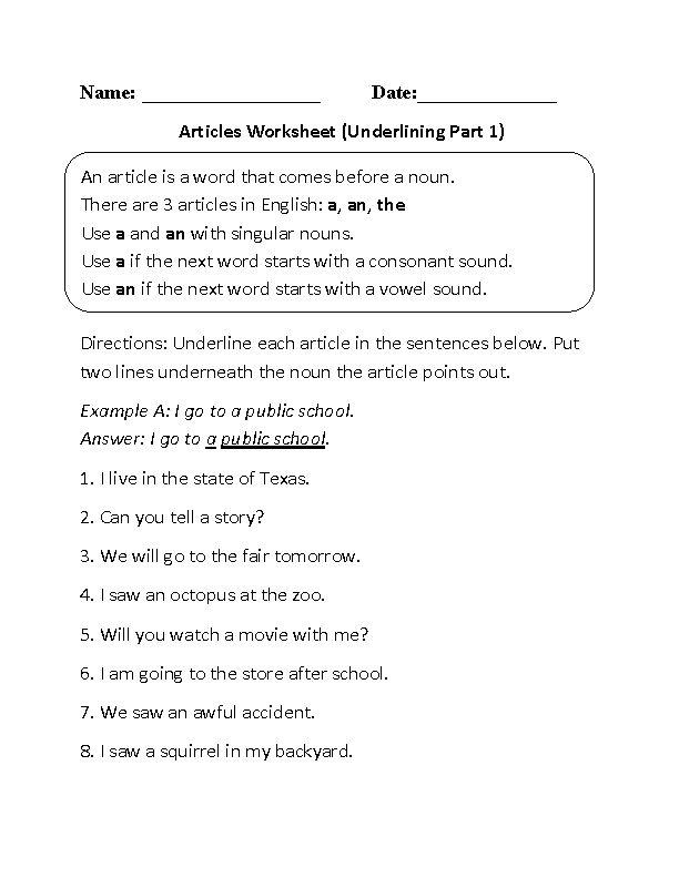 Prepossessing 7th Grade English Reading Worksheets for English ...