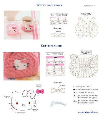 """"""" MOSSITA BELLA PATRONES Y GRÁFICOS CROCHET """": Hello Kitty Aplicación a Crochet"""