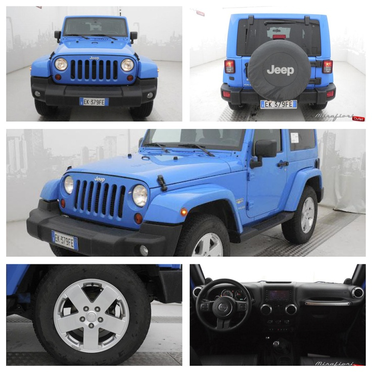 Jeep Wrangler Sahara 2.8 crd, usata, color Cosmos blue, del 2011.     #jeep #vetrinamirafiori #mirafiorioutlet #usato