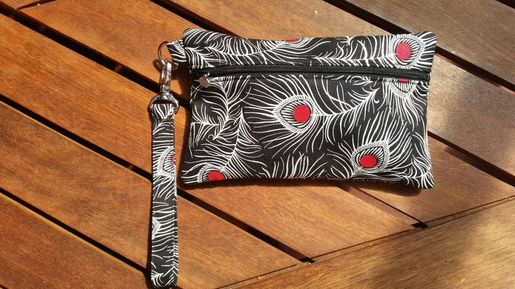 Designer clutch, wristlet bag, wristlet, handbag, wedding clutch, evening bag by RazberriCreations on Etsy