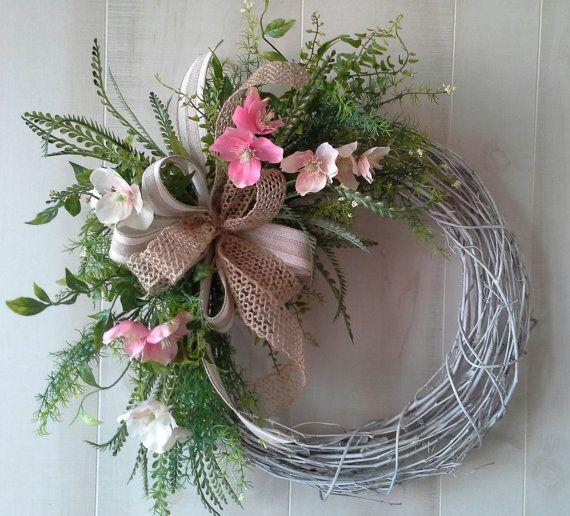 Wreath Spring wreath grapevine wreath Door by SavannahsCottage, $38.00