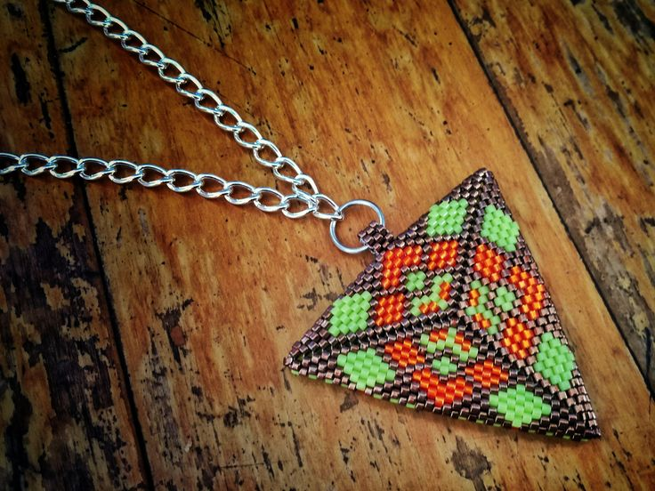 Reversable Triangle Pendant Necklace - by Jenny Sangster www.jennysangster.co.nz
