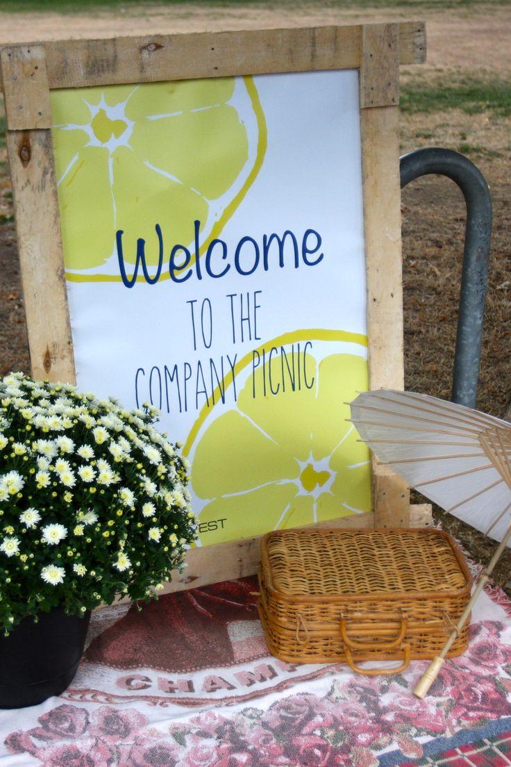 Company Picnic Welcome Sign #picnic