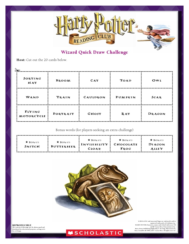 September WIZARDRY IN PICTURES: Draw Pictures of Items   found in the Harry Potter   series.   Download by clicking image above!  For more activities visit www.scholastic.com/hpread #HarryPotter #HPread