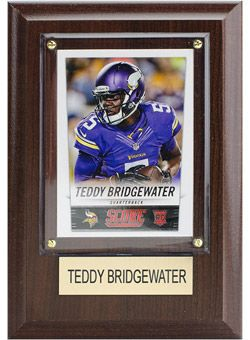 Vikings Teddy Bridgewater 4''x6'' Plaque