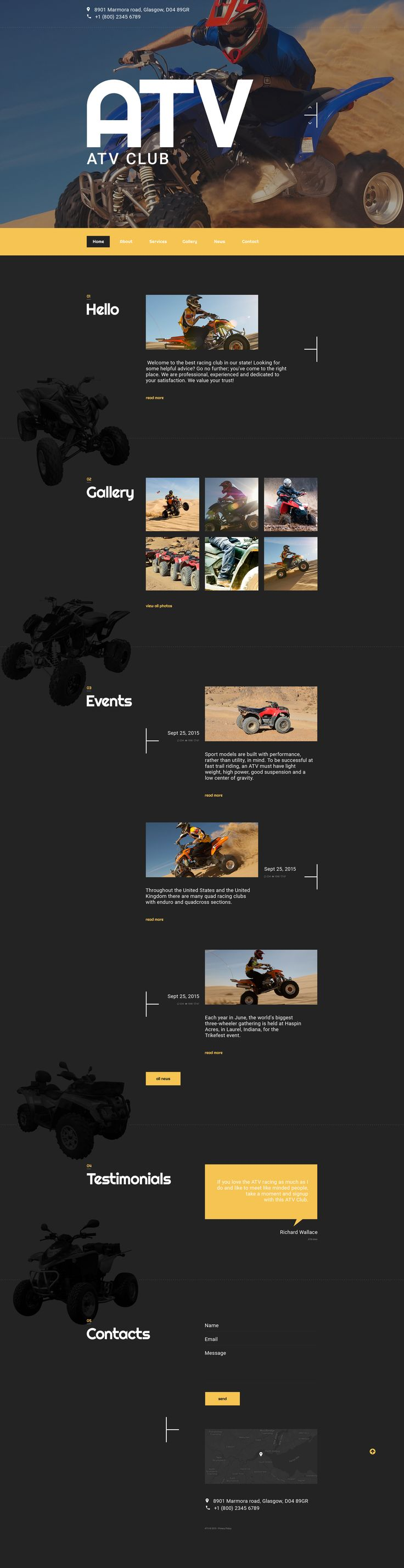 Coming soon: ATV Club  Joomla3 template. Check Out its release: http://www.templatemonster.com/