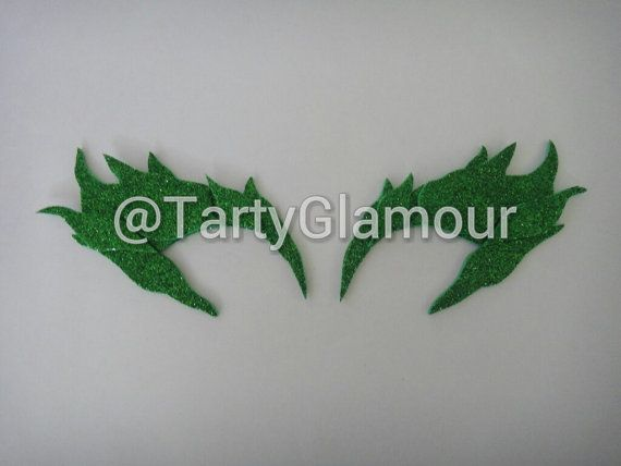 Poison Ivy Glitter Eyebrows Poison Ivy Eye Mask by TartyGlamour